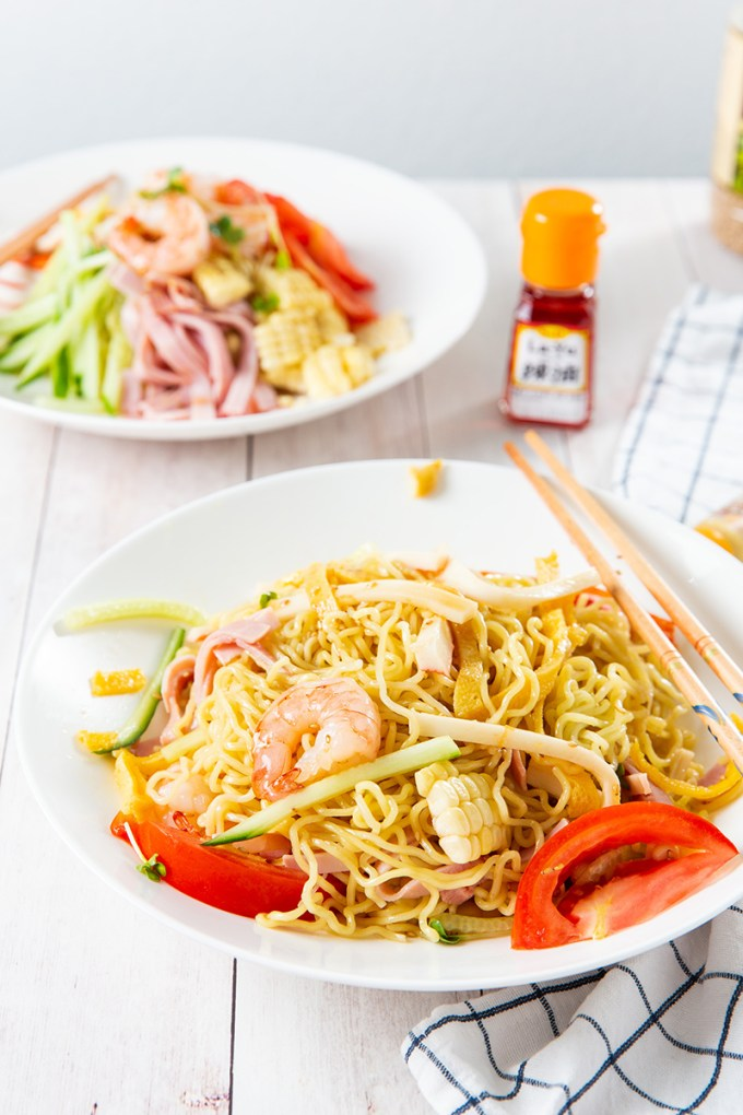 Hiyashi Chuka (Japanese Cold Ramen) #ramen #noodles #japaneserecipes #summerrecipes | The Missing Lokness