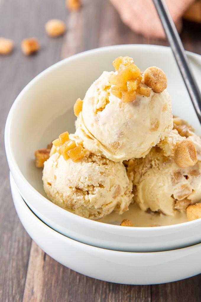 Apple Pie Ice Cream #icecream #applerecipe #fallrecipe #cinnamon #pie #applepie #dessertrecipe | The Missing Lokness