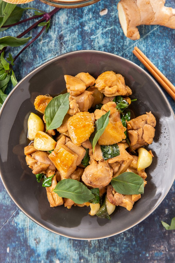 Three Cup Chicken #chicken #Taiwanese #stirfry #thaibasil #easy #weeknightmeal #chickenrecipe #dinnerrecipe | The Missing Lokness