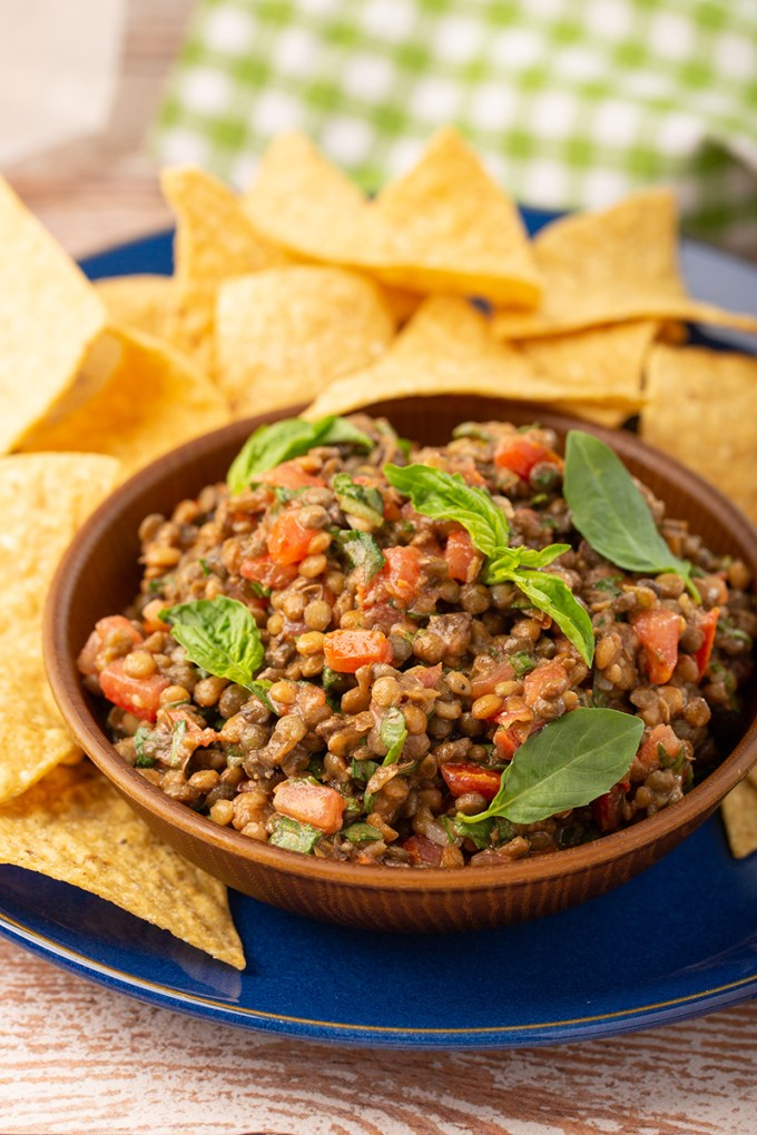 Easy Basil Lentil Dip #appetizer #dip #easyrecipe #5minuterecipe #lentil #basil #traderjoes #appetizerrecipe #vegetarian #vegan #healthy | The Missing Lokness