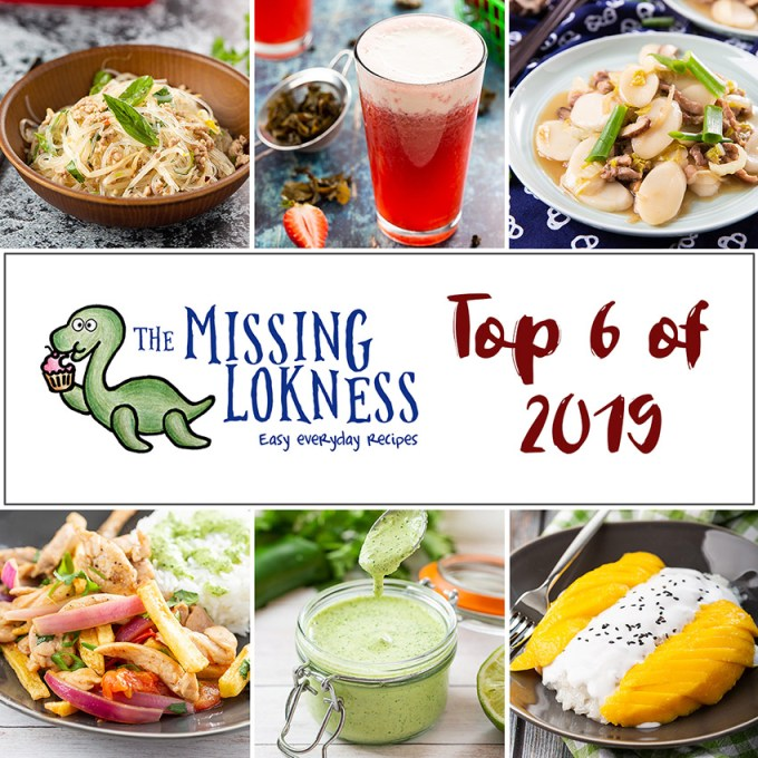 2019 Top 6 Recipes #recipe #top6 #bestoftheyear #noodles #dessert #drink #sauce #stirfry | The Missing Lokness