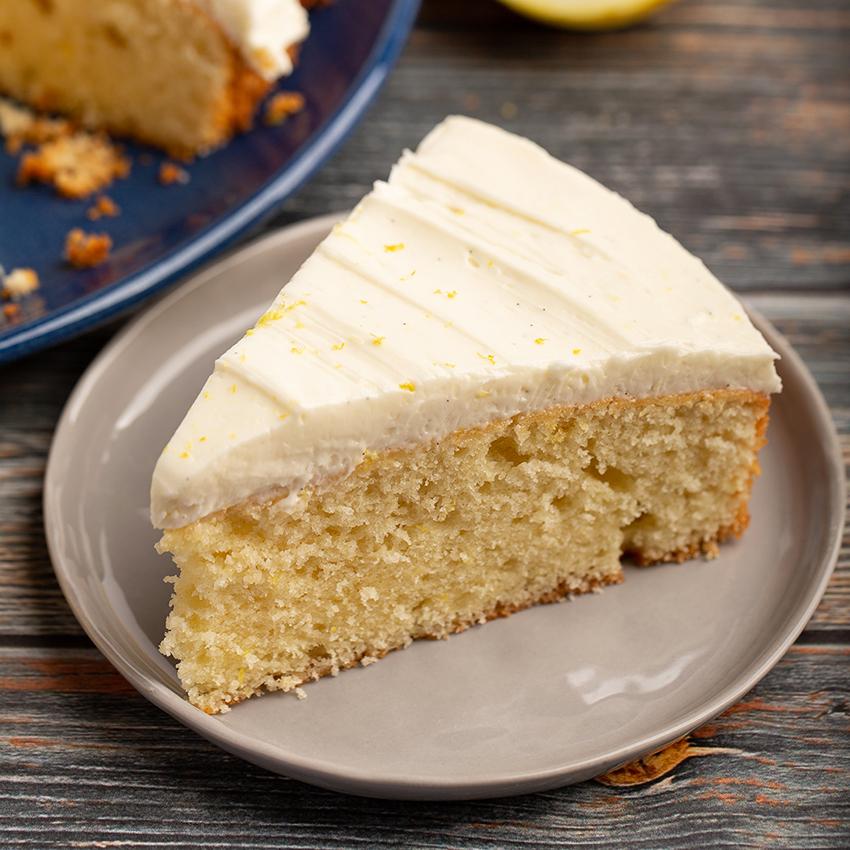 One Layer Lemon Sour Cream Cake #cake #lemon #sourcream #easyrecipe #frosting #baking #easydessert #dessert #dessertrecipe | The Missing Lokness