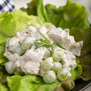 Easy Chicken Salad #chicken #chickensalad #grape #tarragon #greekyogurt #mayo #sidedish #lunch #butterlettuce #easyrecipe #leftoverchicken #dinner #dinnerrecipe | The Missing Lokness