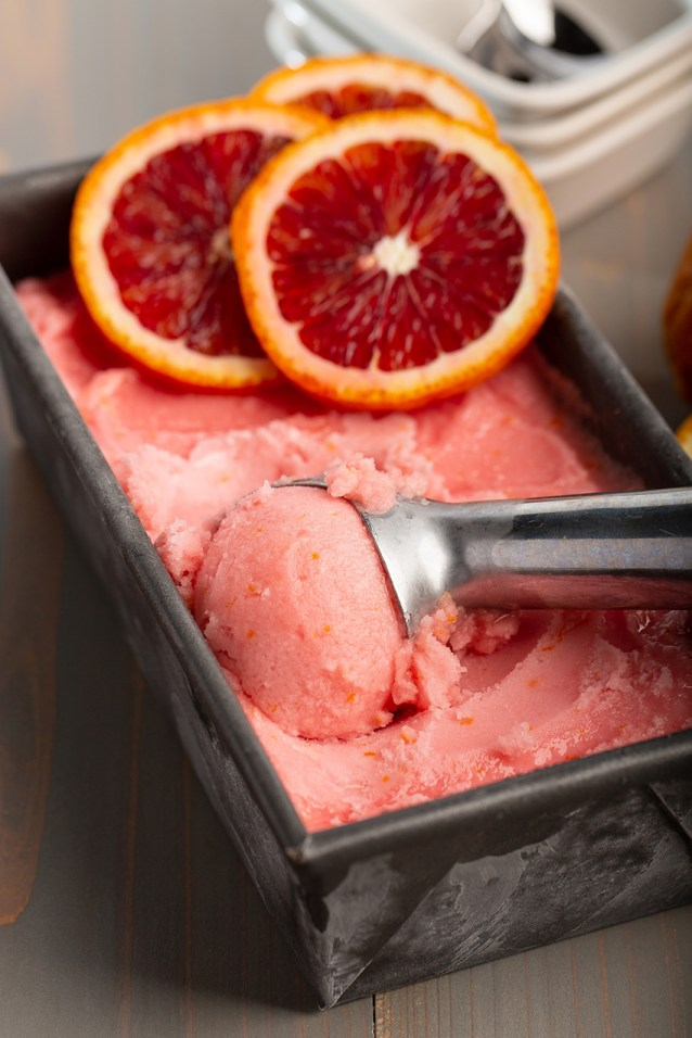 Blood Orange Sorbet #bloodorange #sorbet #citrus #easyrecipe #pink #frozentreat #dessert #dessertrecipe #dairyfree | The Missing Lokness