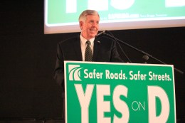 Gov. Parson speaks at a Prop D rally on October 17, 2018. PHOTO/ALISHA SHURR - THE MISSOURI TIMES