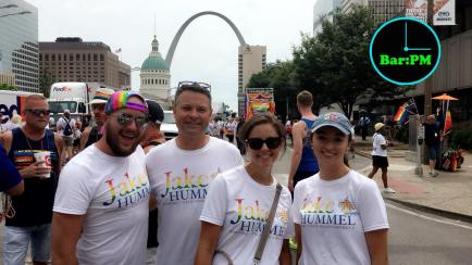 Hummel, second from left, and, wife, St. Louis Alderwoman Sarah Wood Martin, second from right PHOTO/FACEBOOK - Chad Wick