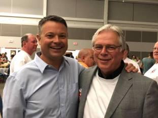 Sen. Jacob Hummel and AFL CIO President Mike Hummel PHOTO/FACEBOOK-Susan Caudle