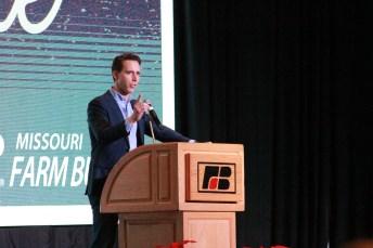 Josh Hawley speaks at the annual 2018 Farm Bureau meeting (ALISHA SHURR/THE MISSOURI TIMES.)