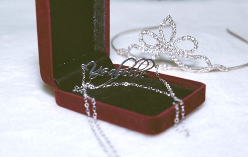 sterling silver personalized necklace - ysabelle
