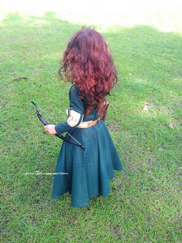 Merida Brave Costume for Kids - Back View