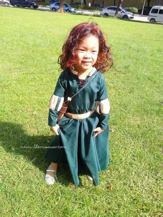 Merida Brave Costume for Kids - Front View