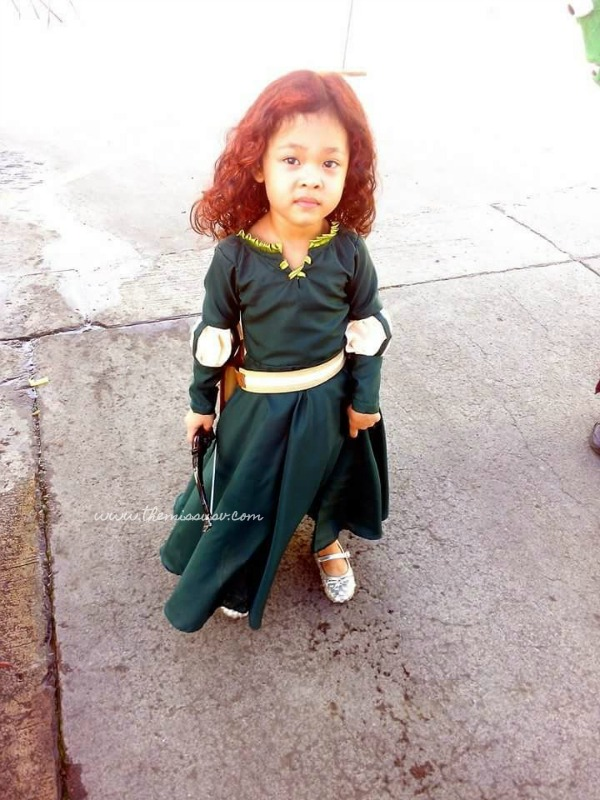 Merida Brave Costume for Kids - Orange Hair