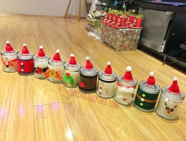 Christmas Ornaments to Make with the Kids - Festive Christmas Candles