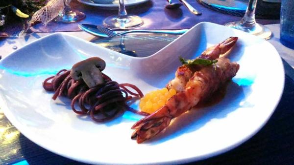 Valentine's Day Dinner in the most Romantic Restaurant in Cebu - Prosciutto Wrapped Prawns
