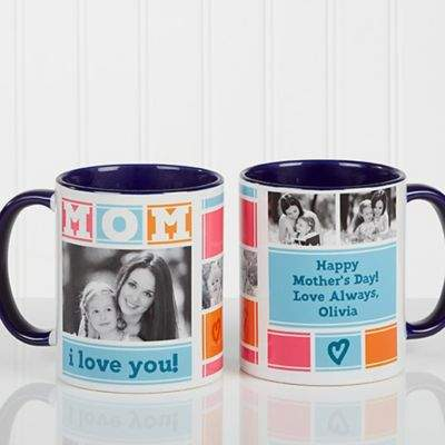 Mother's Day Basket Ideas - Mom Photo Collage Personalized Coffee Mug