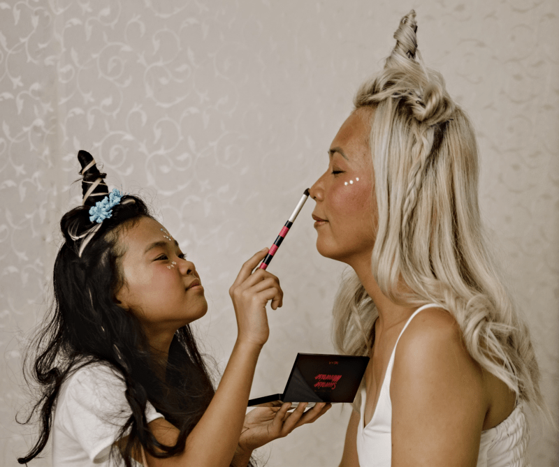 Mother-Daughter Unicorn Makeup Idea - Bonding with China