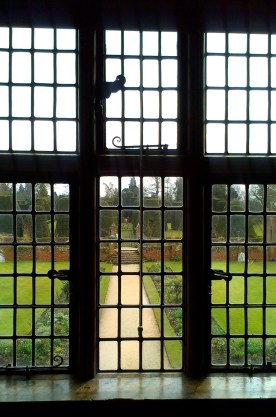 looking out to the yew garden
