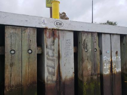 """The infamous, and sometimes controversial """"lock graffiti"""""""