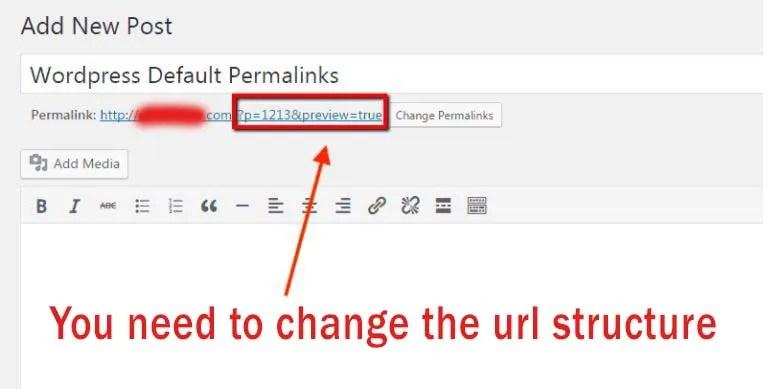 wordpress default permalink
