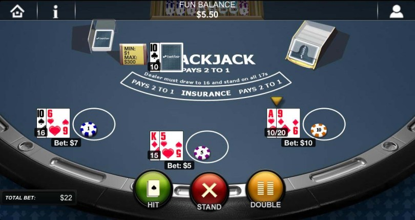 Betfair casino blackjack