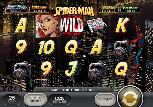 betfred casino spiderman