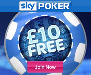 sky poker mobile casino 10 free bonus