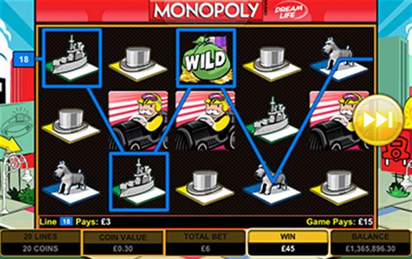 monopoly mobile slots reels