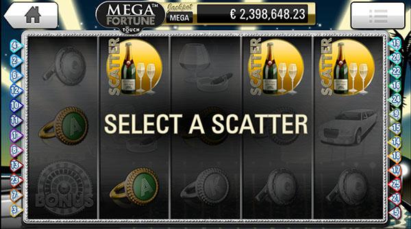 Mega Fortune mobile slots free spins