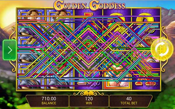 Golden Goddess slot win
