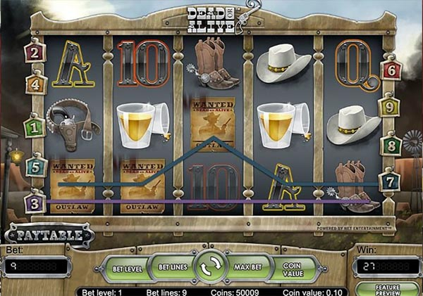dead or alive slot win
