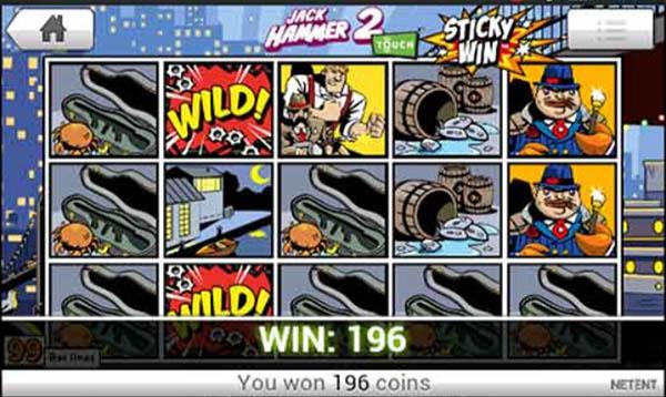 Jack hammer 2 slot win