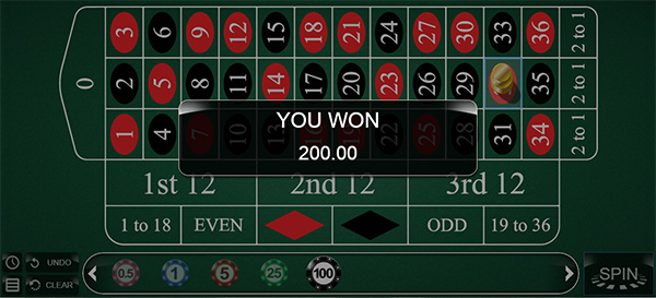 Sapphire Rooms roulette