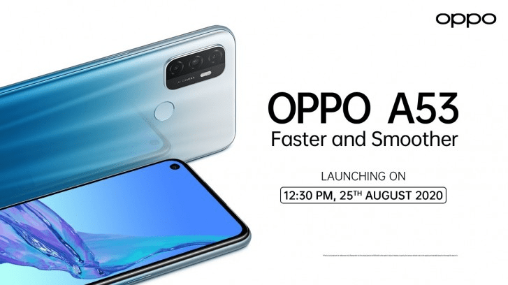 Oppo A53 India launch