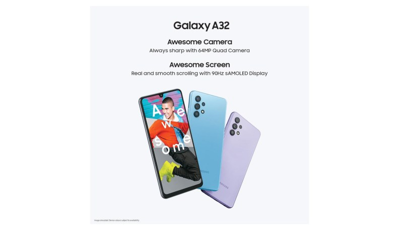 Samsung Galaxy A32 4G official poster