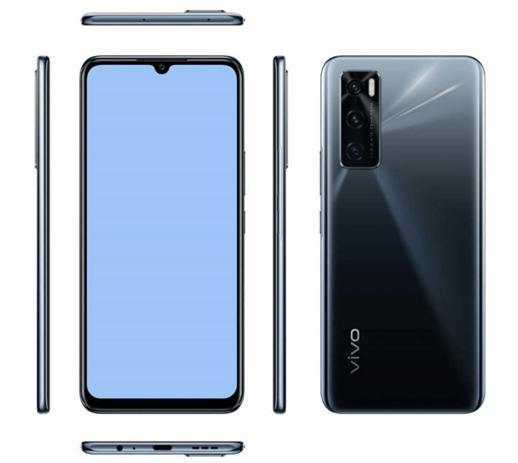 Vivo V20 SE render in Black