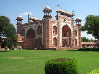 Mosque inside the Taj grounds