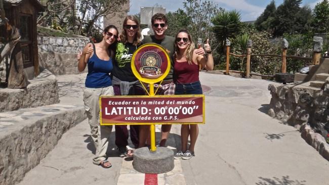 At the equator, Quito, Ecuador