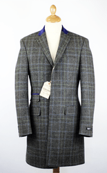 Gibson 'Vinnie' black check coat £140