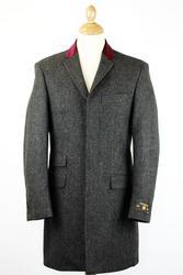 Atom Retro velvet collar overcoat £124