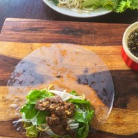 Lemongrass Beef with Rice Paper