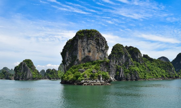 The legendary limestone karsts of Halong Bay
