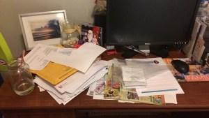 Desk clutter