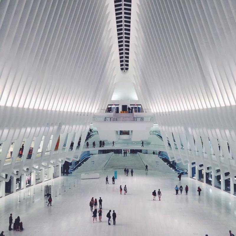 The Oculus next to One World Trade Center