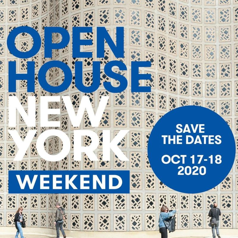 Open House New York is still set to run in October in New York!