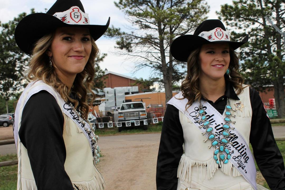 Miss Frontier Sara Rangitsch and her Lady-In-Waiting Jonna Brown.