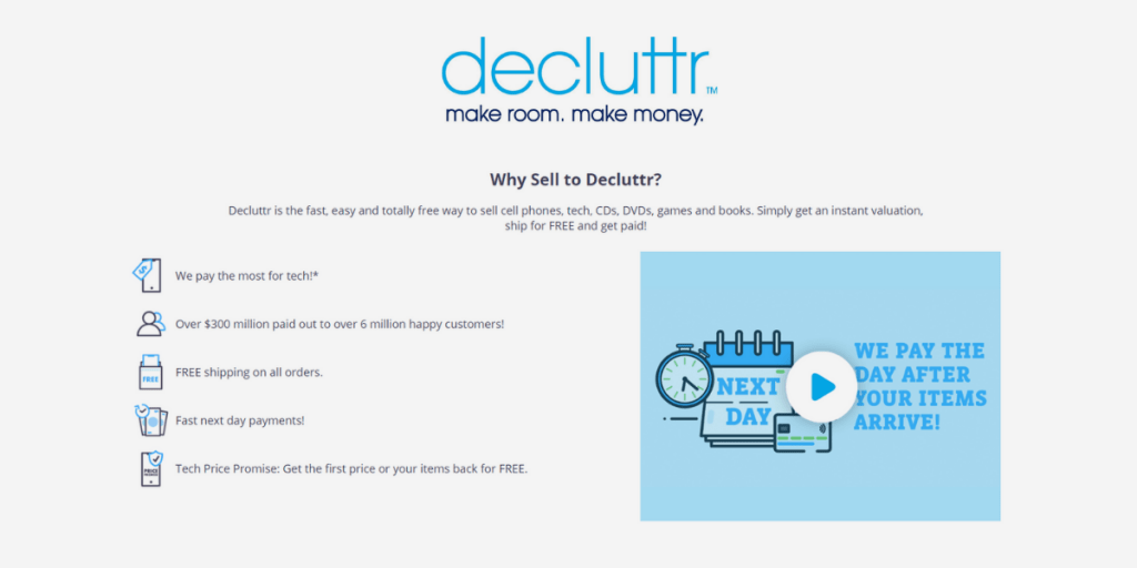 Decluttr is a fast easy and free way to sell your tech online