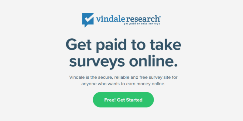 Make Money with Surveys: Vindale Research