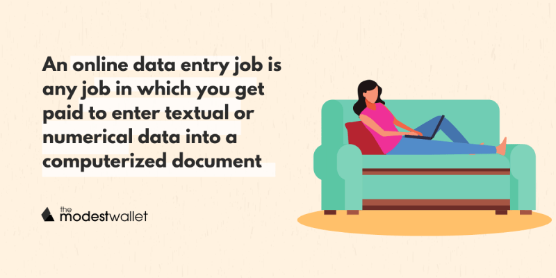 What is an online data entry job?