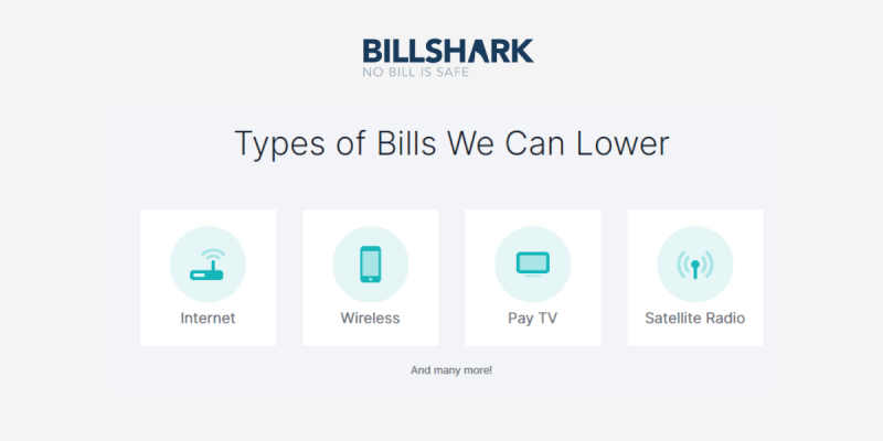 Types of Bills Billshark can Lower