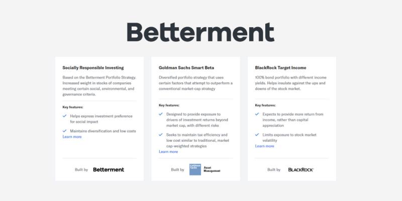 Betterment Review Portfolios